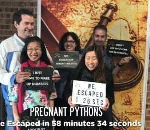 Pregnant Pythons