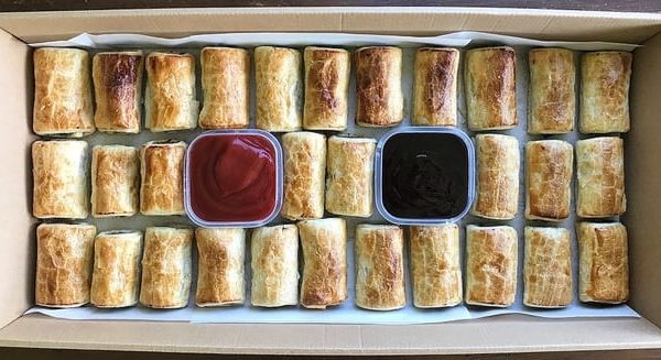 Sausage Rolls in Party Box
